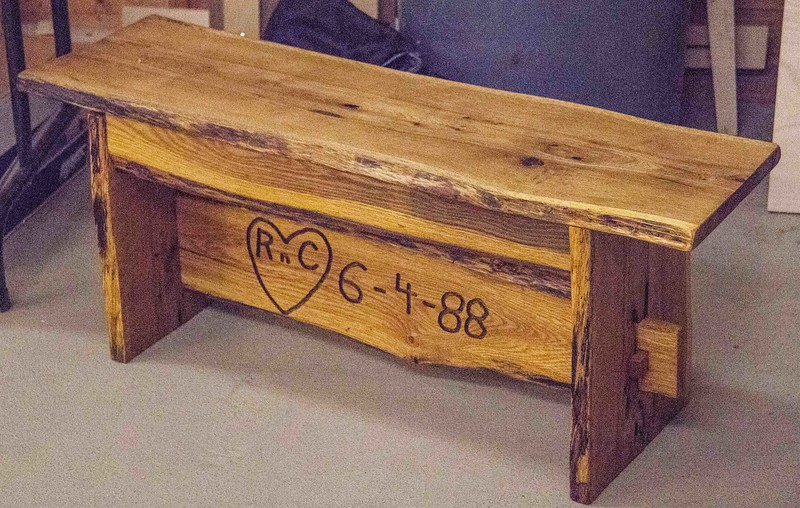 Randy Offenburger made this personalized live edge bench - Sep 2016