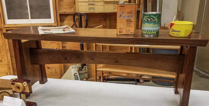 Ken Rummer made this Walnut Hall Bench   Sep 2019