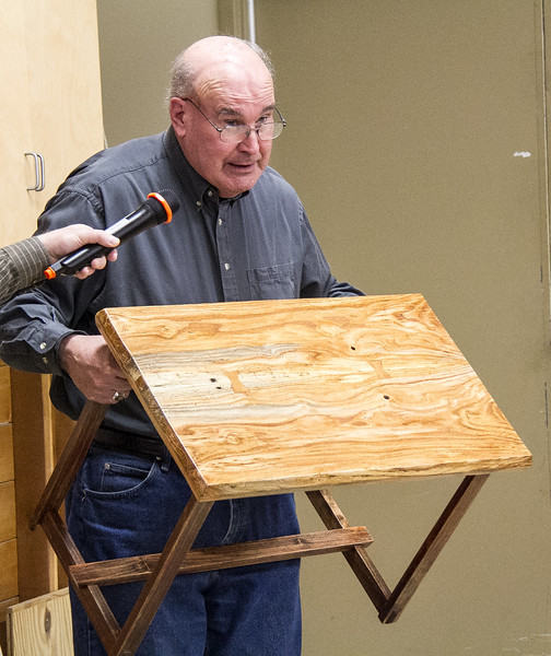 Rich Voss showed this table he made. Feb 2015