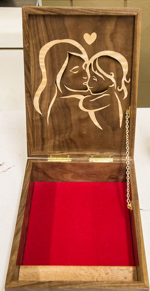 Ben DeLong showed his Marquetry Workshop projects -  May 2017