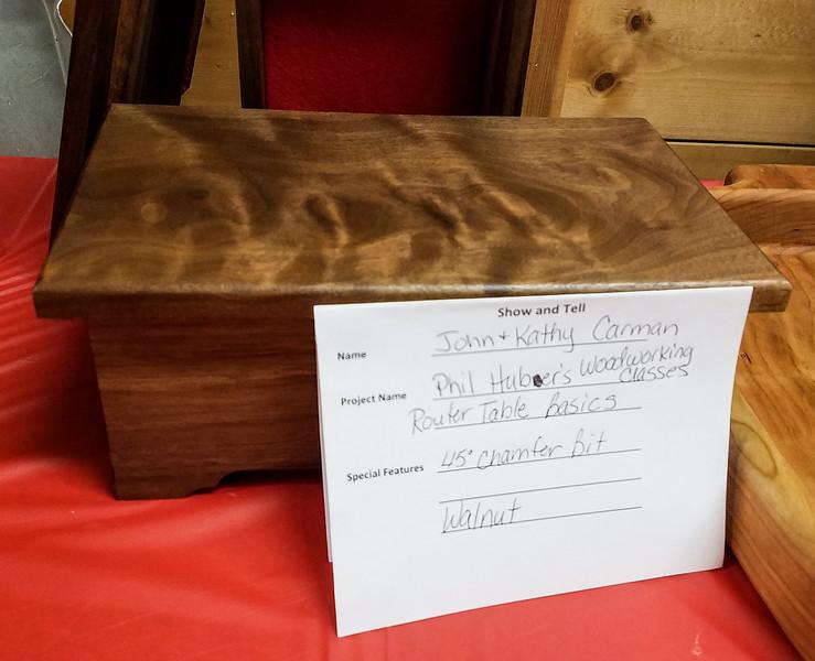 Walnut Box shown by John and Kathy Carman  Dec 2018