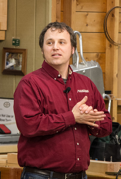 Phil Huber of Woodsmith Magazine gave a presentation on Hand-Held Router Joinery  Mar 2015