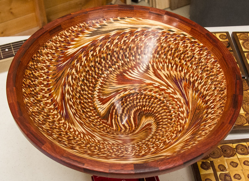 Tom Whalley made this Vortex Turned Bowl - Feb 2017