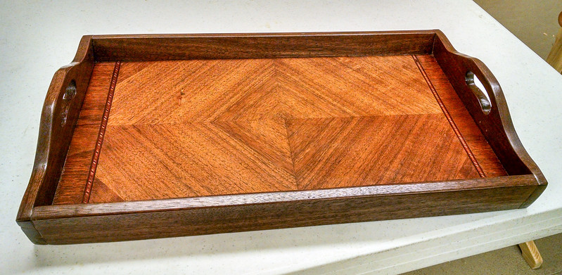 Rich Voss made this Inlaid Tray  Nov 2016