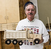 Francis Youngblut showed his Kenworth Dump Truck he made from Birch with Walnut trim.  Nov 2013