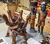 Francis Youngblut who shared carvings he purchased while in Africa several years ago.  Feb 2019