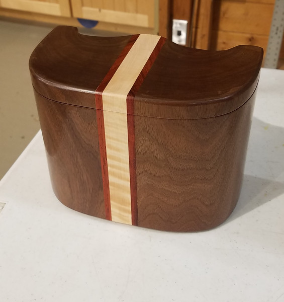 Ron Hilliard made this Bandsaw Box from old growth walnut  Feb 2020