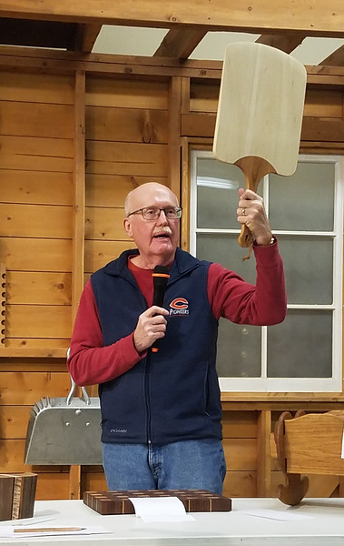 Gary Weeks made this Pizza Peeler from basswood and cherry  Feb 2020