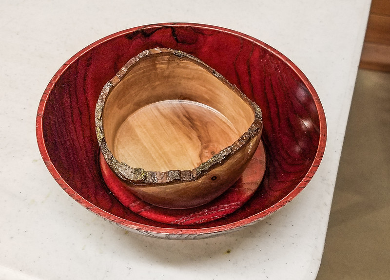 Leroy Monson showed his Small Bowls he turned  Jan 2020