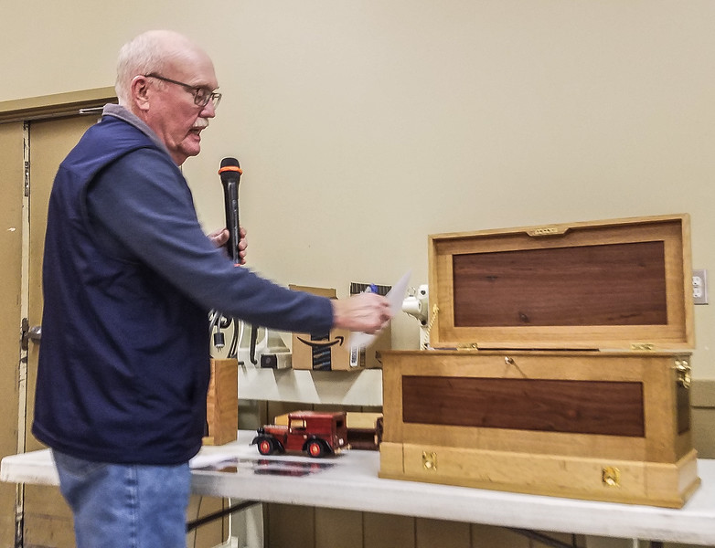 Gary Weeks showed his White Oak and Walnut Tool Chest  Jan 2020