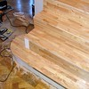 "Solid Beech treads and risers with Rounded bottom step. installed by  <a href=""http://www.harrisonwoodwork.com"">http://www.harrisonwoodwork.com</a>"
