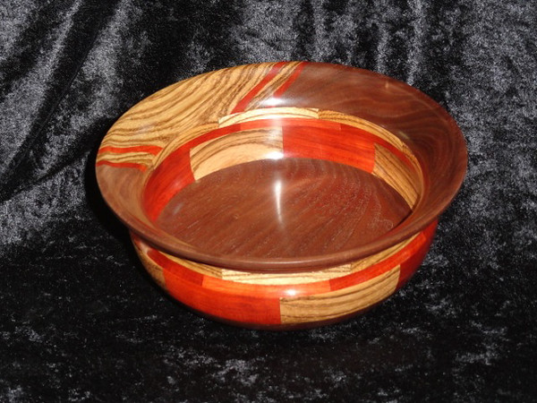 Rich Thompson entered this Zebra and Redheart Segmented  Bowl.