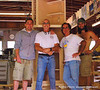 Team Bay Cab's-Ian,Jeff,Dan&Matt in front of Wine Currio Cabinet