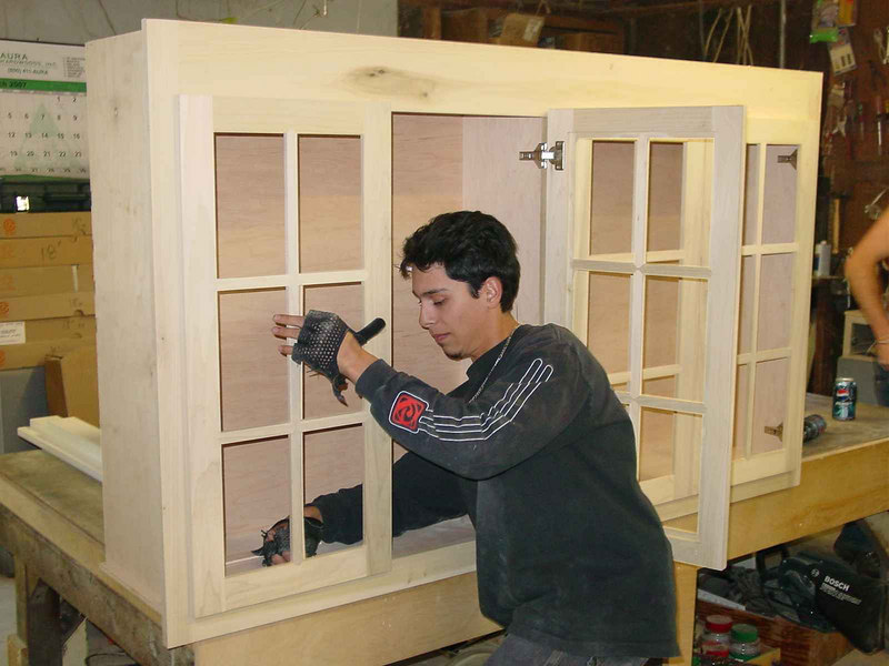 Alex adjusting french lite doors