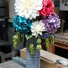 3 way rustic chalk paint flower vase in double grey and teal
