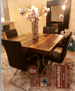 Chunky pallet wood dining table~02