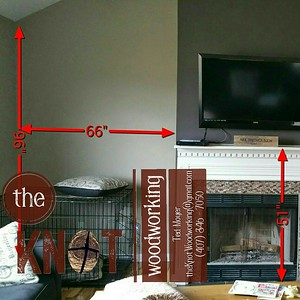 built in fireplace before