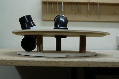 Building a Thien cyclone separator lid.