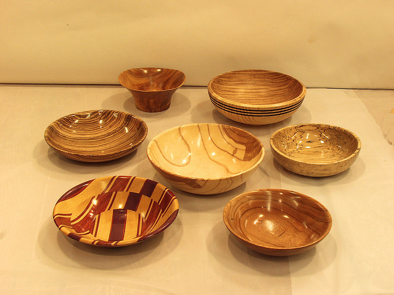 Chuck Dowler turned these bowls