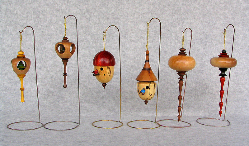 "Chuck Dowler turned these ""Christmas Ornaments"""