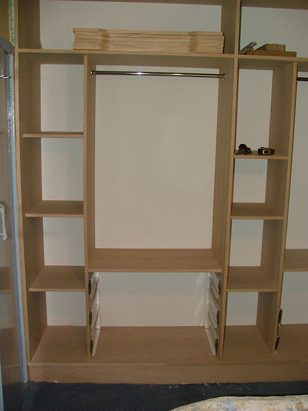 "Custom designed and built, American white Oak Wardrobe units by  <a href=""http://www.harrisonwoodwork.com"">http://www.harrisonwoodwork.com</a> of Urmston Manchester."