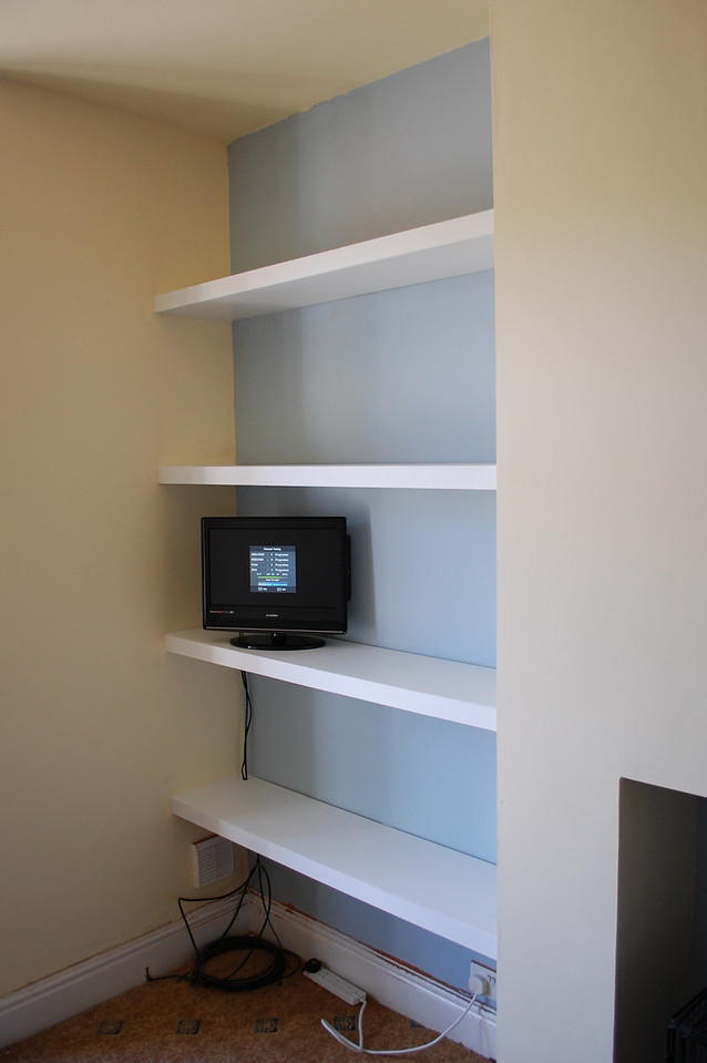 "Custom alcove unit and shelves by  <a href=""http://www.harrisonwoodwork.com"">http://www.harrisonwoodwork.com</a>"