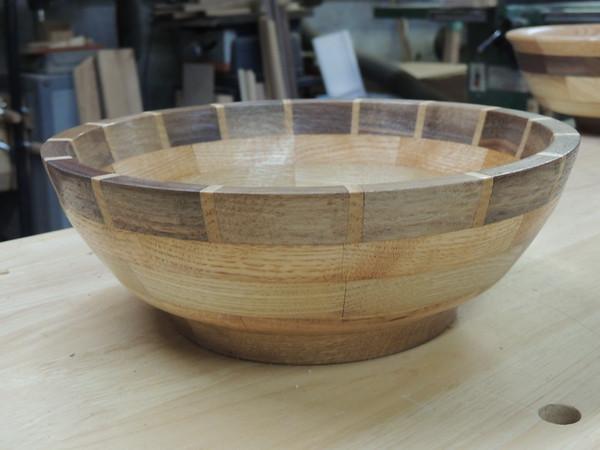 view 2: Made of oak (bottom), chestnut, poplar, walnut with ash dividers.