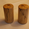 Salt and pepper shakers made from spalded maple.