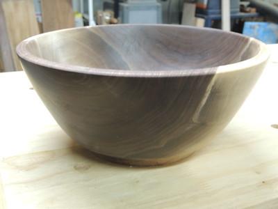 10 inch walnut bowl