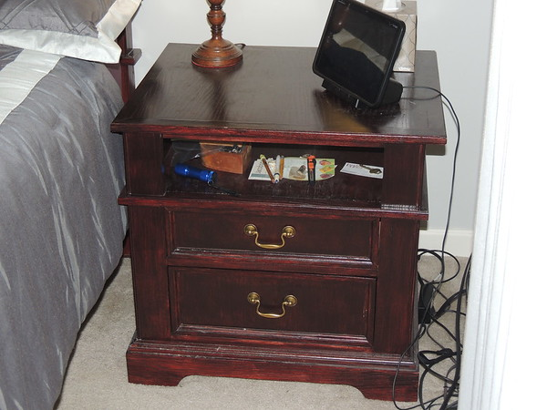 Night stand.  ash, stained mahogany