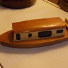 "Small model of ""the Bipolar Express,"" our canal boat."