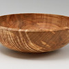 This is the middle-sized bowl of a set of three bowls carved out of one <br /> bowl blank from an Ayr Mount sugar maple tree stump.  <br /> The following pictures detail how that stump became this bowl.