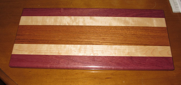 This one is Jatoba, Maple, and Purpleheart