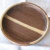 Walnut dish, glued, two planks deep.