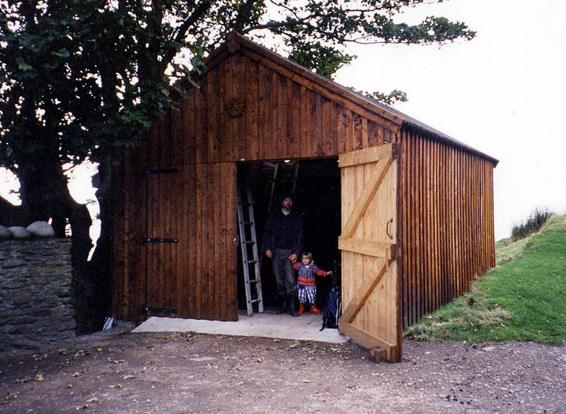 Completed shed.<br /> <br /> With roof and cladding on. Built to last a hundred years and more.