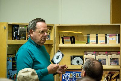 Gene described some of the materials available from the guild library.