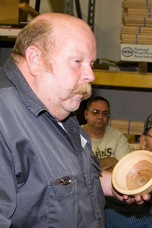 Rick brought another turned bowl.  His first experience turning green wood.Return to Woodworkers Guild