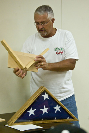 This flag case, and the jigs for making the joints, was the first show and tell.