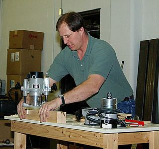 Jeff demonstrates making tenons in table legs.