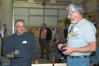 Dick and Ken discuss the merits of a couple of drills.Return to Woodworkers Guild