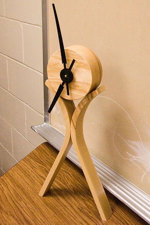 Richard J brought a contemporary clock for show and tell. Return to Woodworkers Guild