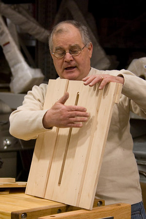 Show and Tell - Dick demonstrated the use of a jig for use with a router.
