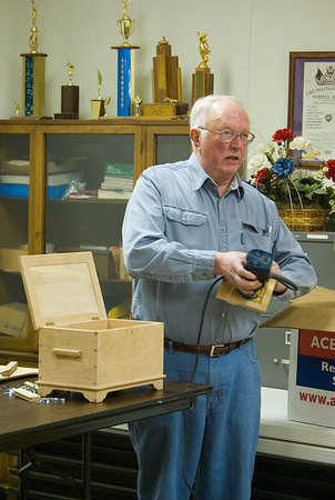 Alfred demonstrated the use of several router guides and jigs.