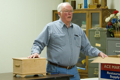 Alfred presented the construction details for the legacy box.
