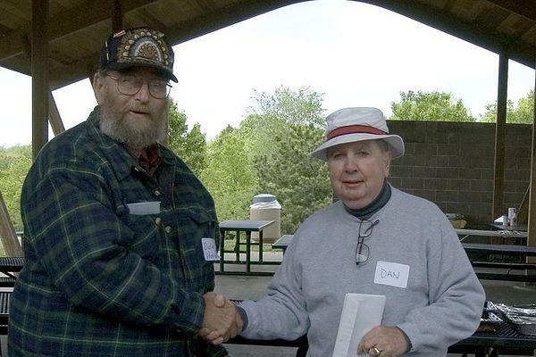"<font size=""3"">Dale accepts the Second Place award in the Craftsman Competition.</font><br><br>Return to <a href=""http://www.omahawoodworkers.org"">Woodworkers Guild</a>"