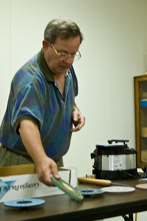 Gene demonstrated a new sharpening system.