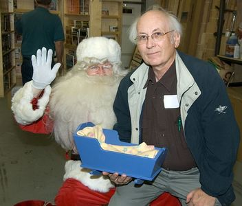 Santa and another member.Return to Woodworkers Guild