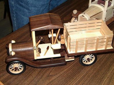 This stake bed truck was made from photos of the real thing.Return to Woodworkers Guild