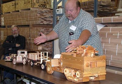 Rick presented several details models.Return to Woodworkers Guild