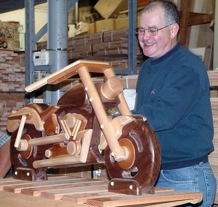 Dick J. built this rocking motorcycle for his grandson.Return to Woodworkers Guild